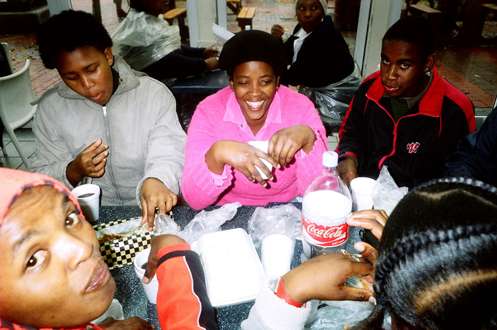 cape town south africa people eating nandos