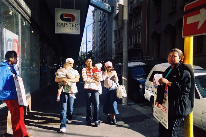 cape town south africa central business district women walking