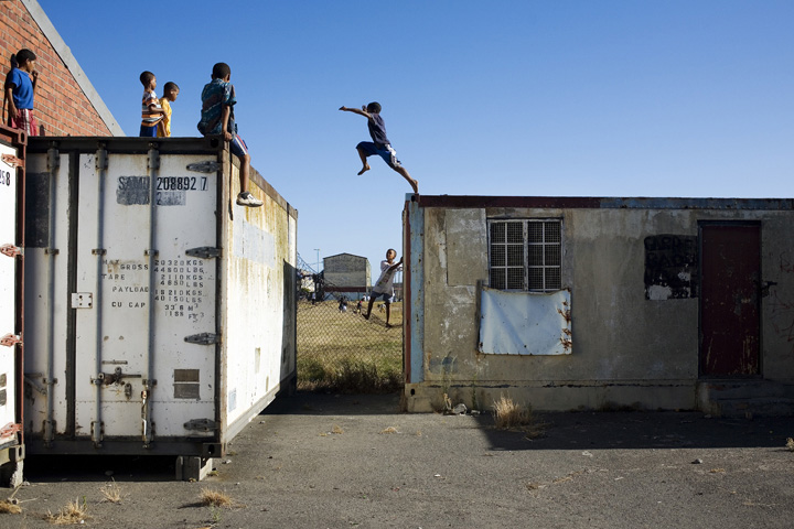 kids playing in Manenberg South Africa